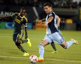 Jun 27  2014 - MLS: Sporting KC vs Portland Timbers - Diego Chara  Soony Saad