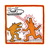 Haring - Untitled October 1982 Broad Foundation Giclée par Keith Haring
