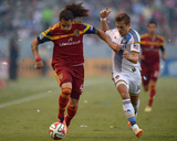 Jul 12  2014 - MLS: Real Salt Lake vs Los Angeles Galaxy - Devon Sandoval  Robbie Rogers