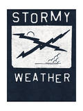 Stormy Weather - Crossed Lightning Bolts Design