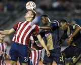May 31  2014 - MLS: Philadelphia Union vs Chivas USA - Maurice Edu  Eriq Zavaleta