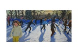 Ice Skaters  Christmas Fayre  Hyde Park  London  2014