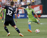 Jun 28  2014 - MLS: Seattle Sounders vs DC United - Marco Pappa  Bobby Boswell