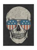 Skull and American Flag Shades