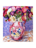 Asters in a Pink Floral Victorian Jug  2002