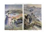 Touristic Posters of Paris-Lyon-Mediterranee  Geneve and Mount Pelvoux