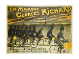 Advertising Poster for Georges Richard Bicycles  24 Rue Du 4 Septembre