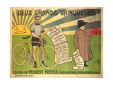 Advertising Poster for Peugeot Freres Bicycles