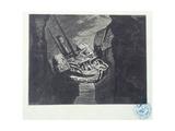 """Album of Engravings after the Drawings for """"Les Travailleurs De La Mer: La Durande after Shipwreck"""