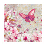 Whimsical Butterfly Pink Flowers