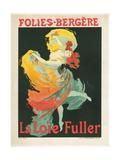 Litographie publicitaire  Loie Fuller au Folies Bergere