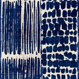 Indigo Batik III Reproduction d'art par Hugo Wild