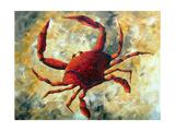 Coastal Luxe Crab Reproduction d'art par Megan Aroon Duncanson
