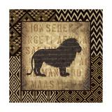 African Wild Lion Border Reproduction d'art par Hugo Wild