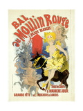 Advertising Lithograph  Le Bal Dumoulin Rouge