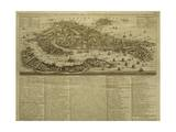 Map of Venice  Published by H Chatelain in Amsterdam  1728