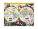 World Map  Early 18th Century