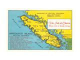 Map of Vancouver Island  British Columbia