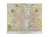 Plan de La Tapisserie  Map of Paris  Originally a Tapestry Made in circa 1570  1818