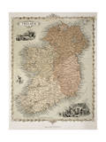 Map of Ireland  Published c1850