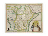 "Map of Ethiopia Showing Five African States  c1690 G Blaeu's ""Grooten Atlas"" of 1648-65"