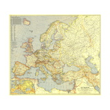 1938 Europe and the Mediterranean Map