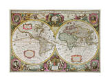 A New Land and Water Map of the Entire Earth  1630
