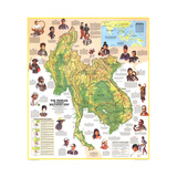1971 Peoples of Mainland Southeast Asia Map