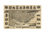 Washington - Panoramic Map of Tacoma