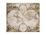 Map of the World  circa 1680