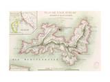 Map of the Island of Elba  1814