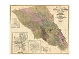 1900  Sonoma County Wall Map  California  United States