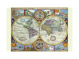 New and Accurate Map of the World; a Stereographic Projection