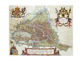 Gandavum  Map of Ghent