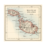 Map of the Maltese Islands  1870s