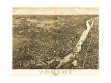 Troy  New York - Panoramic Map