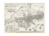 Boston Map  1722