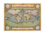 Typus Orbis Terrarum  map of the world  from Ortelius's 'Theatrum Orbis Terrarum'  Antwerp  1570