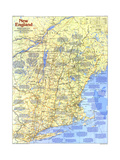 1987 New England Map Side 1