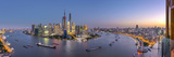 China  Shanghai  Pudong District Skyline across Huangpu River
