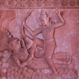 Bas-Reliefs on the Walls of Wat Ratchathammaram  Koh Samui  Thailand