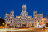 Night View of Cibeles Palace  Plaza De Cibeles  Madrid  Comunidad De Madrid  Spain