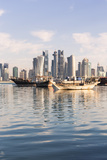 Qatar  Doha Cityscape with Fishing Boats in the Foreground