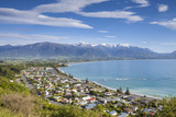 Elevated View over the Picturesque Coastal Town of Kaikoura  Kaikoura  South Island  New Zealand