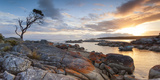 Tasmania  Australia Binalong Bay  Bay of Fires at Sunrise