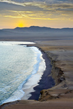 Peru  Paracas National Reserve  Lagunillas Bay  Sunset  Pacific Ocean  Ica Region