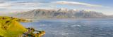 Elevated View over Dramatic Coastal Landscape  Kaikoura  South Island  New Zealand