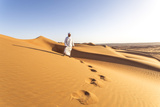 Oman  Wahiba Sands Bedouin on the Sand Dunes at Sunset (Mr)