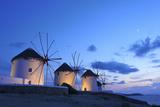Windmills Kato Mili  Mykonos-Town  Mykonos  Cyclades  Greece