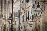 Picturesque Street in the Stari Grad (Old Town)  Dubrovnik  Dalmatia  Croatia